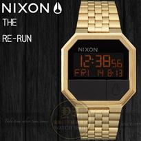 NIXON 復古潮流電子腕錶 GOLD