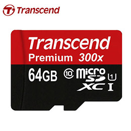 300X 創見 Transcend microSDXC 64G class10 記憶卡