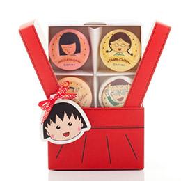 櫻桃小丸子6入馬卡龍禮盒