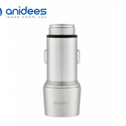anidees 2 埠USB 5A / 25W 不鏽鋼智慧車充