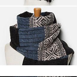 英倫風情侶款 保暖針織圍巾 披肩