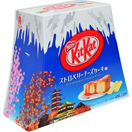 富士山限定!KitKat草莓起司蛋糕