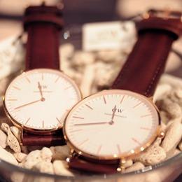 Daniel Wellington DW 40mm玫瑰金皮手錶