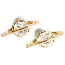 日本Brough Superior 晶燦光芒魅惑土星耳環
