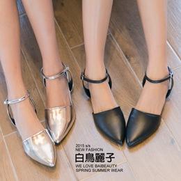 日系踝扣尖頭包鞋