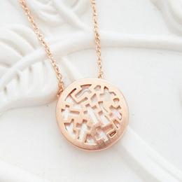 典雅中國 古典雕刻鑲珠貝 項鍊