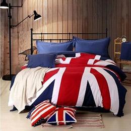 夏天專用款大英國旗特色床包組