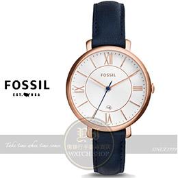 FOSSIL Jacqueline系列復古羅馬淑女腕錶
