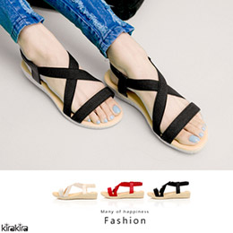 素色交叉繞踝楔型涼鞋-3色