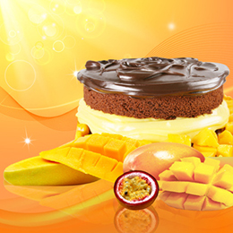 芒果百香果巧克力蛋糕六吋