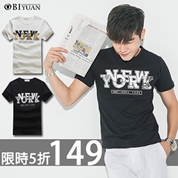 韓國同步短袖棉T