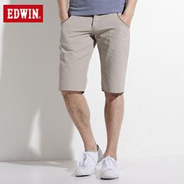 EDWIN B.T麂皮接邊5分短褲