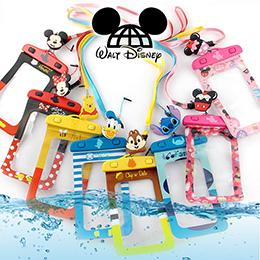 正版授權 繽紛款 迪士尼防水袋/附頸繩+夾子捲線器耳機塞