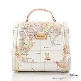 地圖包 側背手提 兩用【粉白色】