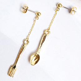 日本甜蜜味蕾叉子與湯匙耳環