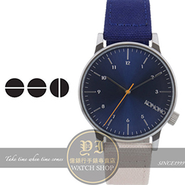 KOMONO比利時品牌復古帆布手錶