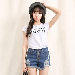 韓版性感顯瘦牛仔短褲