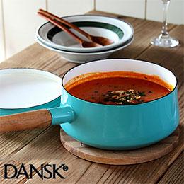 Dansk北歐風KobenstyleQT 雙耳 瑯燉煮鍋 Tiffany綠