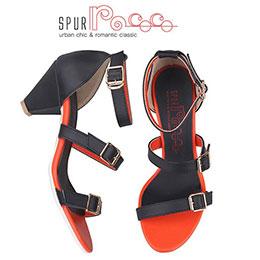韓國SPUR綁帶涼鞋(黑)