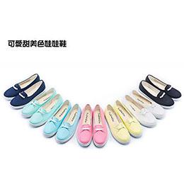 可愛甜美色娃娃鞋
