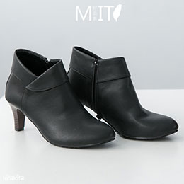 時尚巴黎優雅v口中跟短靴