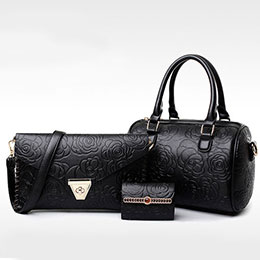 【買一送二】玫瑰波士頓手提包