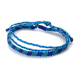 螢光藍編織腳鍊兩條