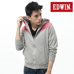 EDWIN 色塊拼接拉練外套