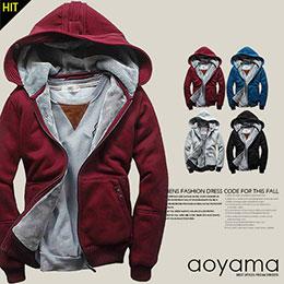 韓國高品質內裡全絨毛保暖連帽外套/情侶款