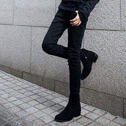 仿牛仔潮流長褲子修身窄褲