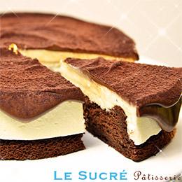 起司生巧克力蛋糕-6吋