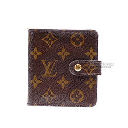 LV傳統紋拉鍊短夾