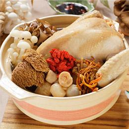【干貝土雞湯】香菇/蟲草二選一