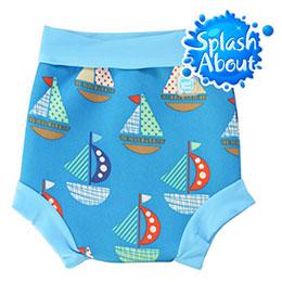 潑寶游泳尿布褲 - 普普風帆船