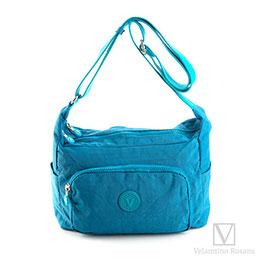 Velamtino輕量多層置物袋斜背包-寶石藍