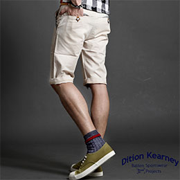 日系ARROW箭頭皮革休閒短褲