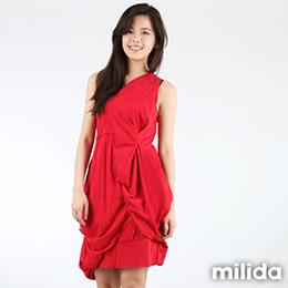 milida細肩獨特剪裁洋裝