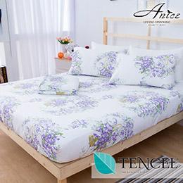 A-nice 100%全天絲床包枕套組-雙人(6003絢麗)