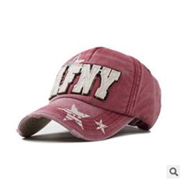 五角星貼布字母刺繡棒球帽