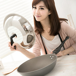 清水 星鑽奈米陶瓷不沾平炒鍋組合蓋33CM