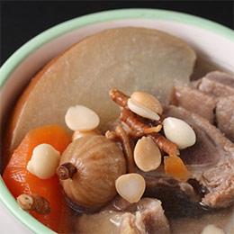 蛤蠣蒜頭雞湯