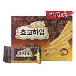 韓國CROWN巧克力牛奶餅