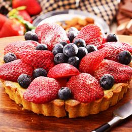 新鮮草莓派6吋