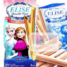 北日本 冰雪奇緣 愛麗絲雙色威化脆餅