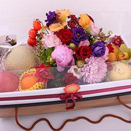 【尊榮仙果花藝禮盒】(含花藝設計)