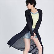 歐都衣舍-輕薄禪意長版罩衫