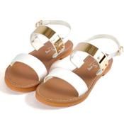 韓系金屬平底涼鞋