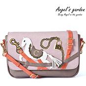 奇幻樂園粉紅棉花糖小馬鏈條側背包
