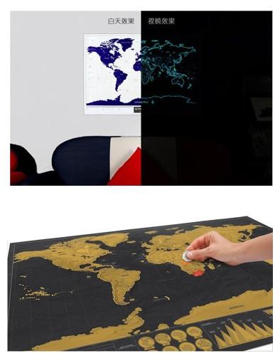 世界旅遊旅型刮刮地圖