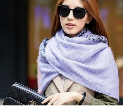 圍巾 披肩式